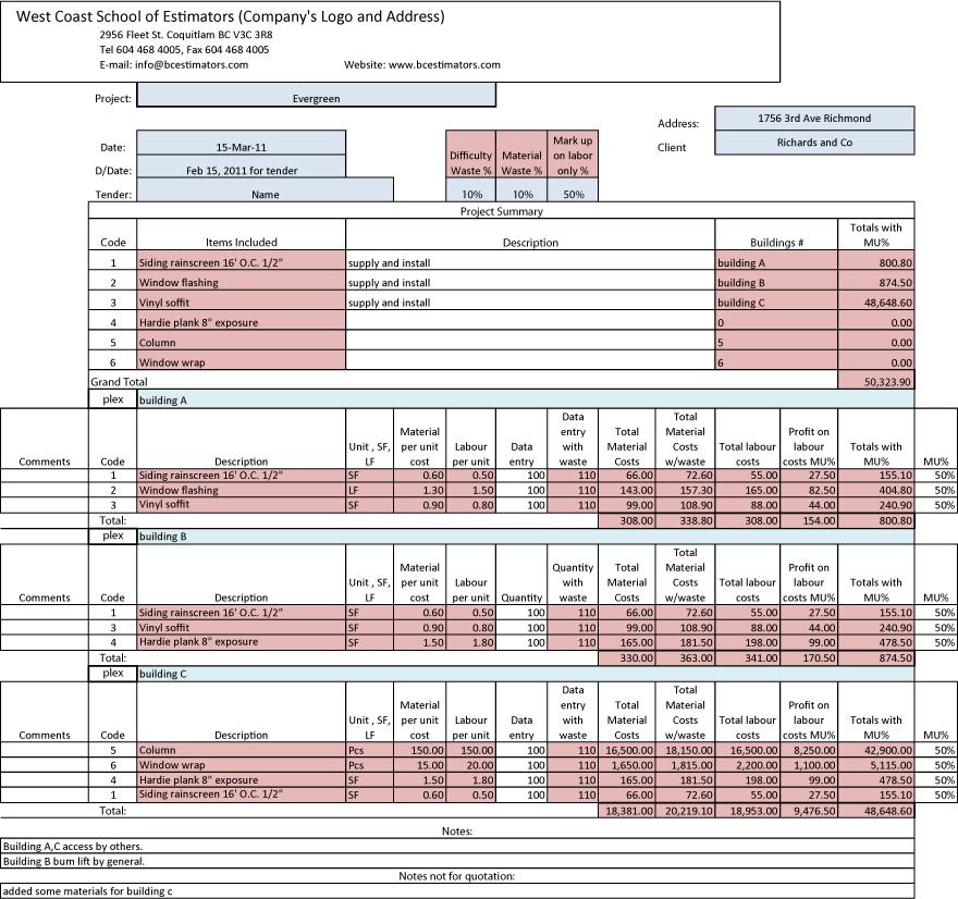 Estimation Software   West Coast Estimators
